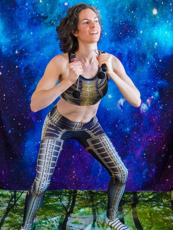 Armor leggings: Muscle Burns Fat cardio