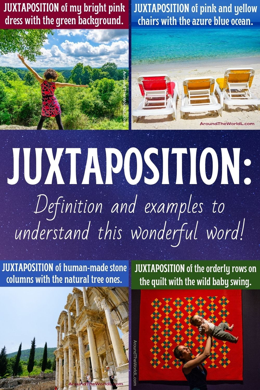Juxtaposition examples, definition, and sentences
