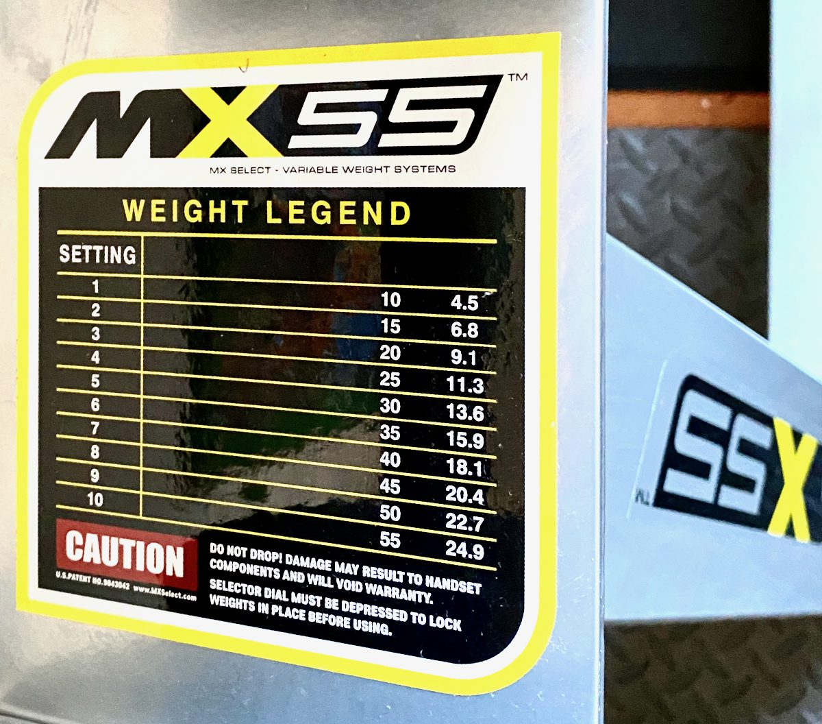 MX55 adjustable dumbbells weight legend