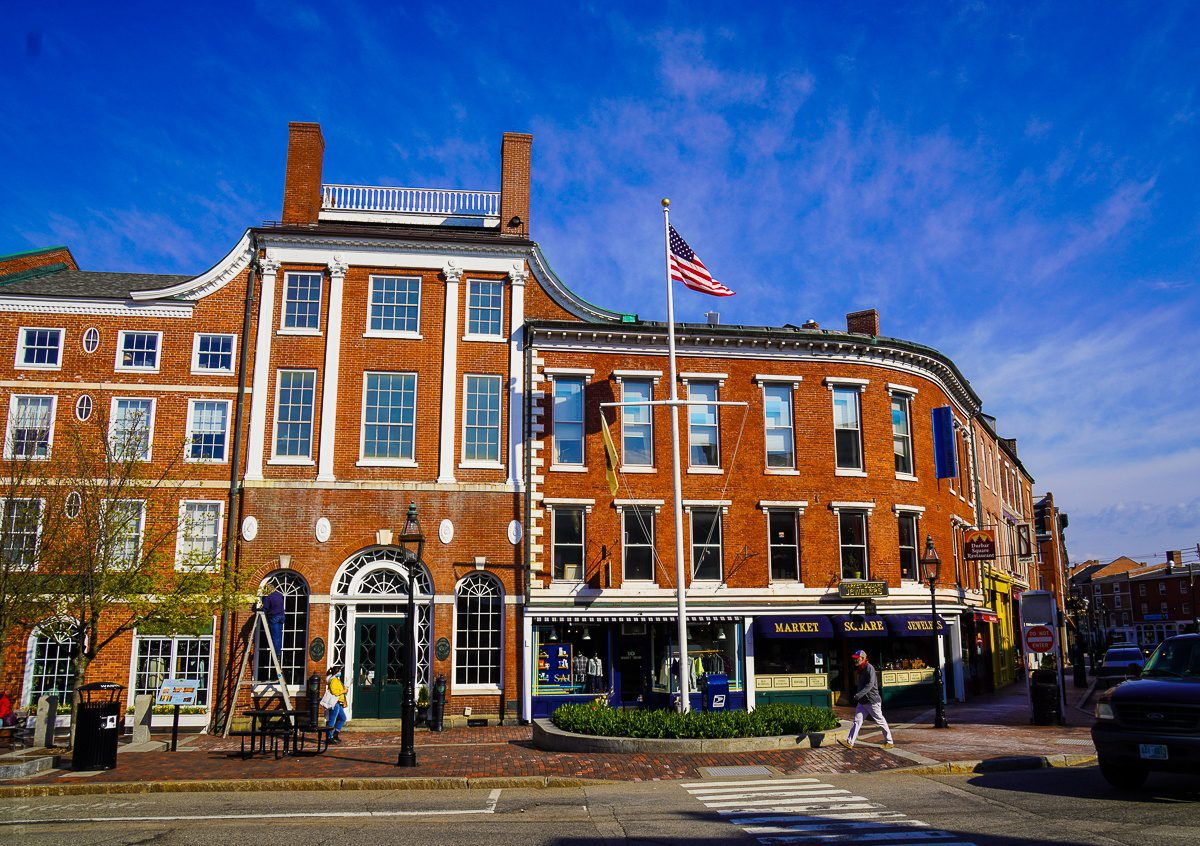 Market Square in Portsmouth, NH.