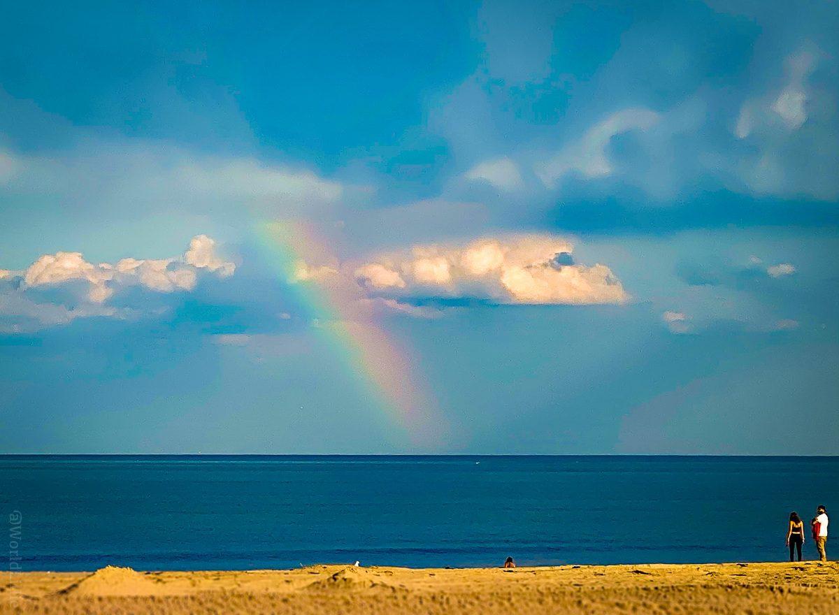 A real rainbow at Hampton Beach, NH!