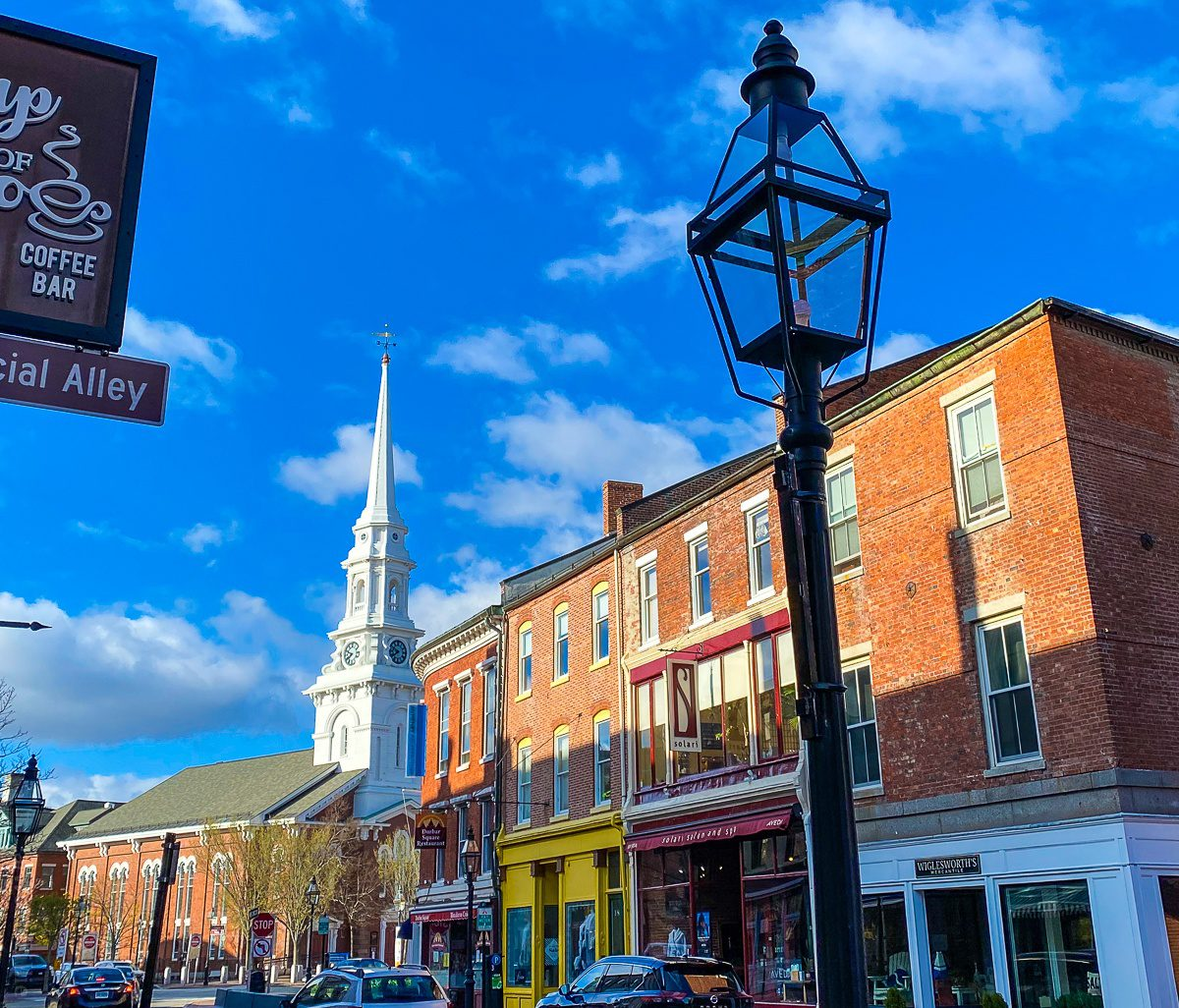 Portsmouth, NH is full of cute shops and restaurants.
