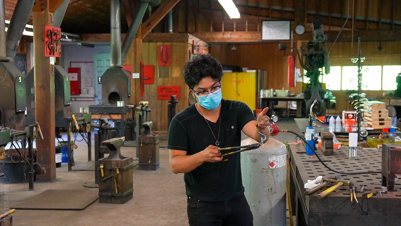 Forging a metal bottle opener
