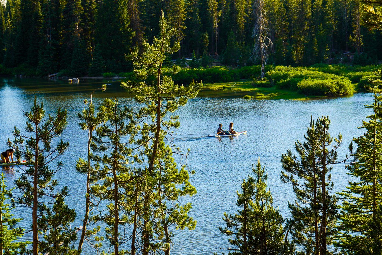 Paddling in Devil's Lake, Oregon.