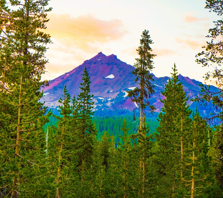 Oregon Mountains peeking up to say hello.