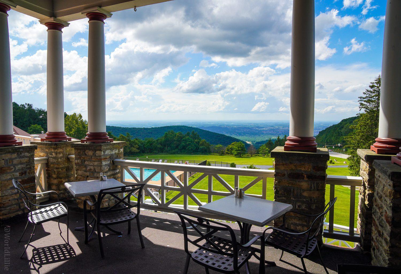 Mountain views from the Veranda at Summit Inn.