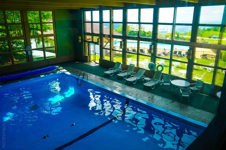 The indoor pool at Summit Inn.