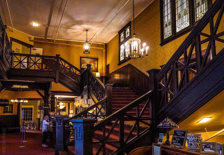 Summit Inn staircase