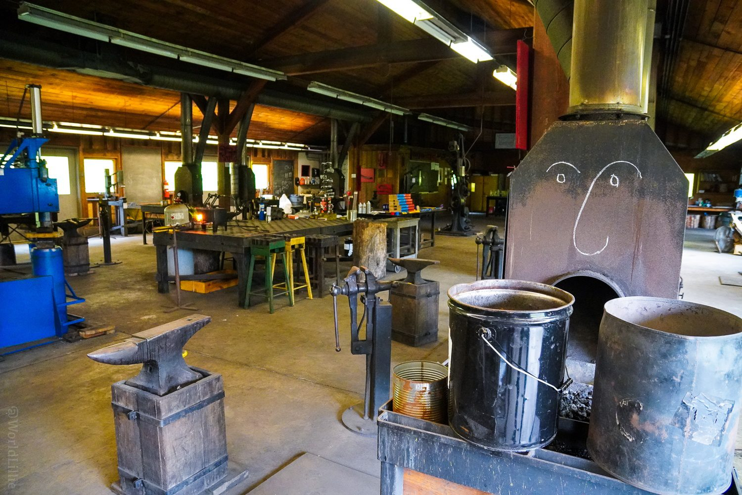 Blacksmith forge... with funny face!