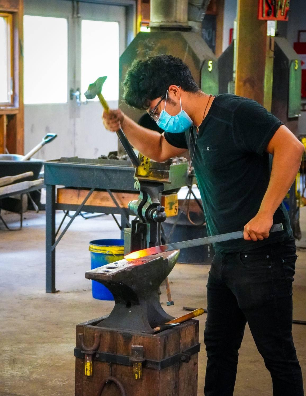 Blacksmith hammer and anvil