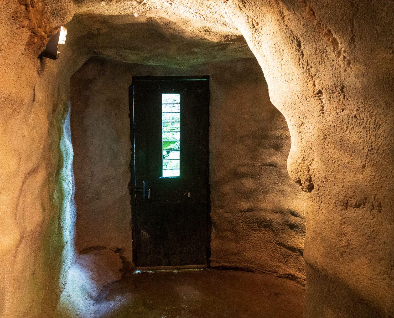 The original door to Laurel Caverns.