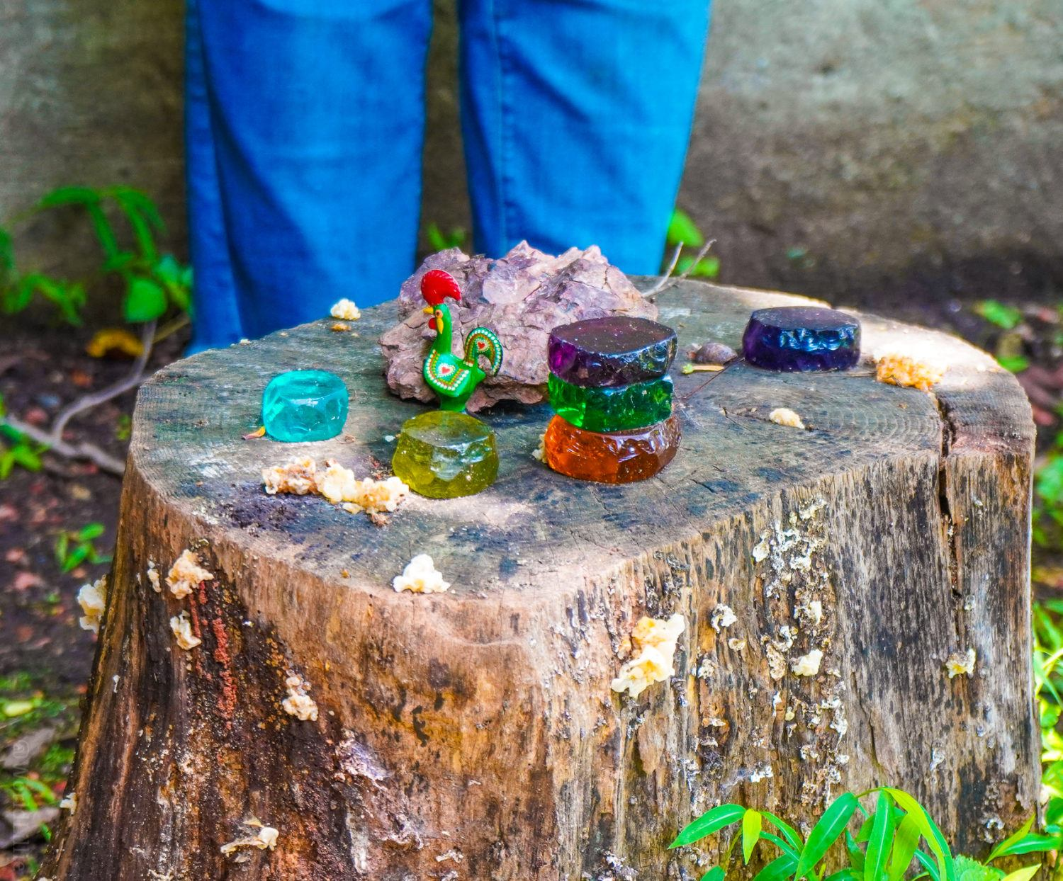 A small artistic shrine in the center of the Ruins.