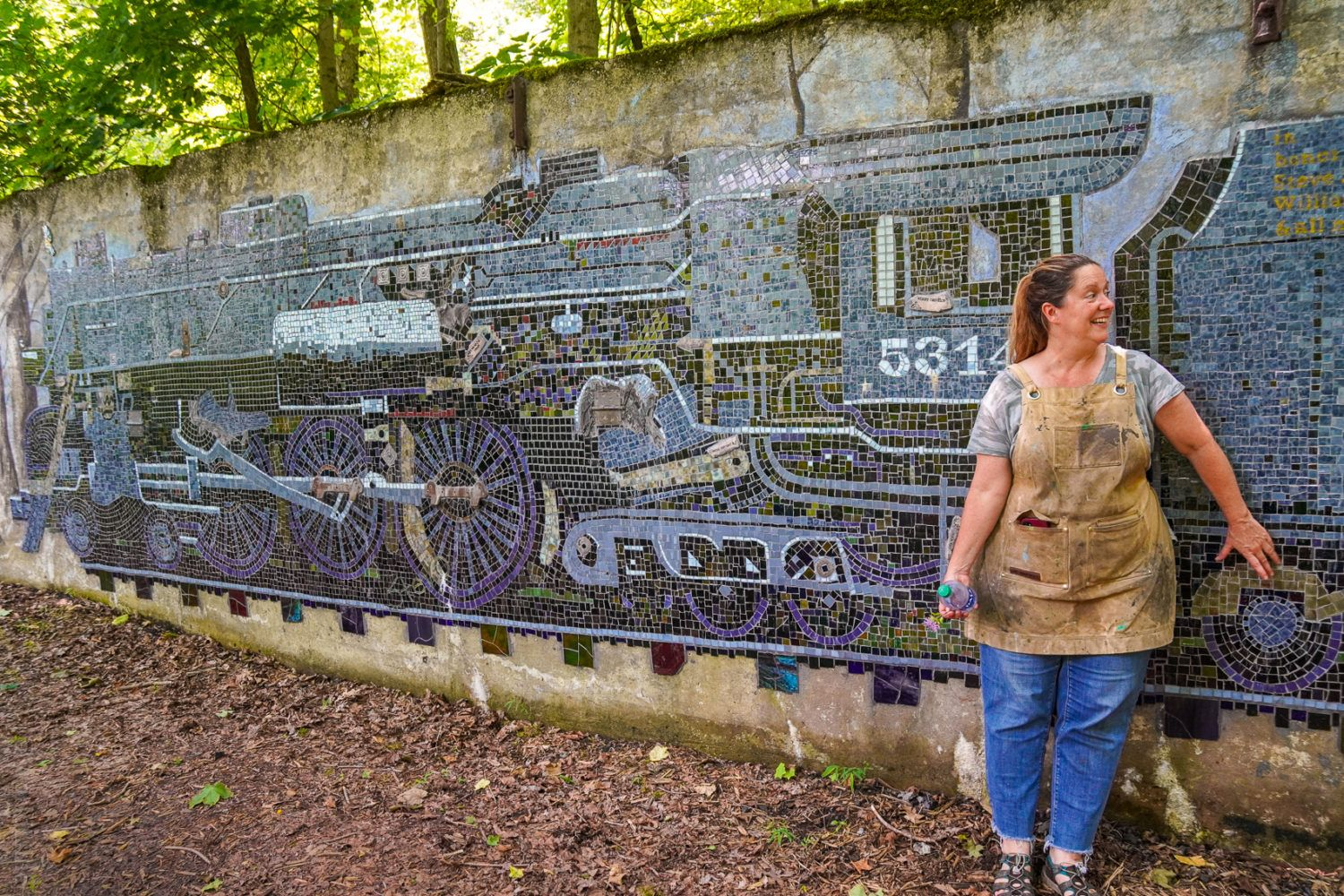 The largest mosaic train in the world?